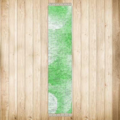 Long Runner (290x63cm) - Endleaves of Art. Taste. Beauty (1932) Green Remix