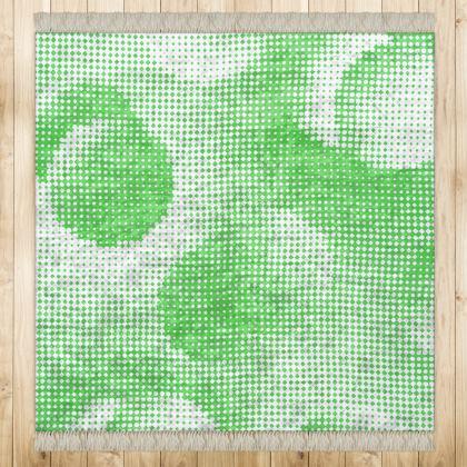 Medium Rug (128x128cm) - Endleaves of Art. Taste. Beauty (1932) Green Remix