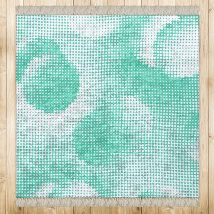 Medium Rug (128x128cm) - Endleaves of Art. Taste. Beauty (1932) Jade Remix