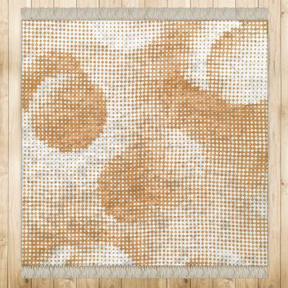 Medium Rug (128x128cm) - Endleaves of Art. Taste. Beauty (1932) Orange Remix