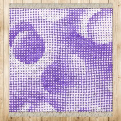 Medium Rug (128x128cm) - Endleaves of Art. Taste. Beauty (1932) Purple Remix