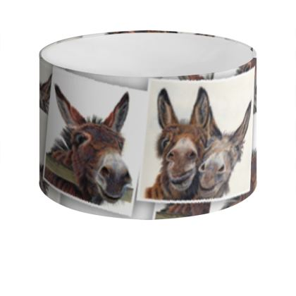 HEE HAW Donkey Drum Lamp Shade