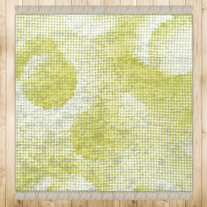 Medium Rug (128x128cm) - Endleaves of Art. Taste. Beauty (1932) Yellow Remix
