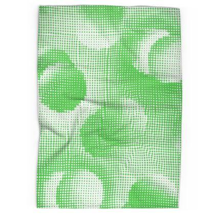 Tea Towels - Endleaves of Art. Taste. Beauty (1932) Green Remix