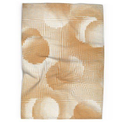 Tea Towels - Endleaves of Art. Taste. Beauty (1932) Orange Remix