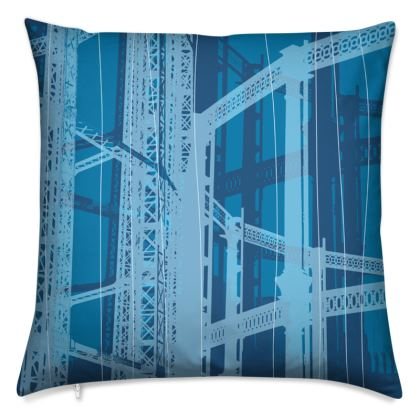 Blue Gasometer Cushion