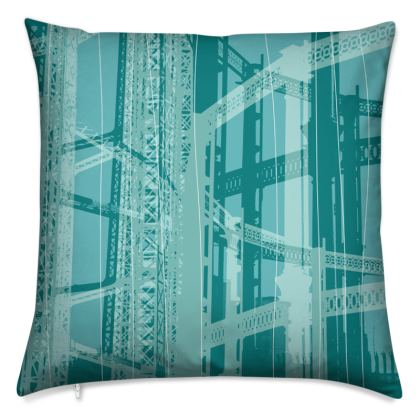 Turquoise Blue Gasometer Cushion