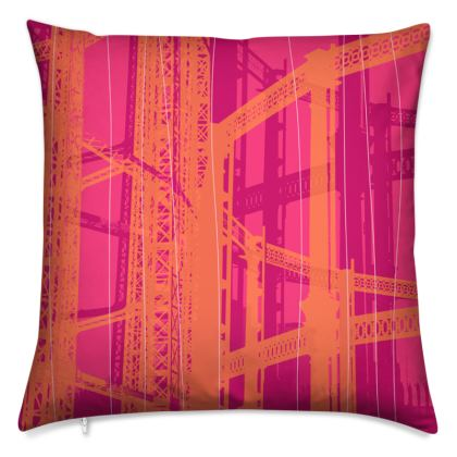 Pink & Orange Gasometer Cushion