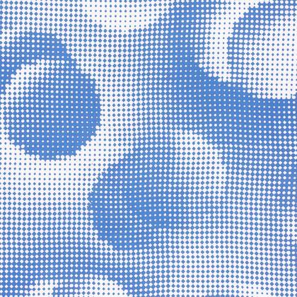 Knee-Length Flared Skirt - Endleaves of Art. Taste. Beauty (1932) Blue Remix