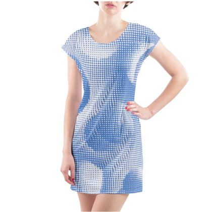 Ladies Tunic T Shirt - Endleaves of Art. Taste. Beauty (1932) Blue Remix