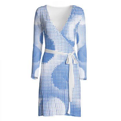 Wrap Dress - Endleaves of Art. Taste. Beauty (1932) Blue Remix