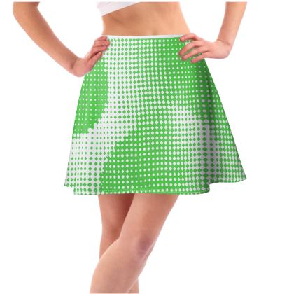 Short Flared Skirt - Endleaves of Art. Taste. Beauty (1932) Green Remix