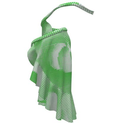 Long Flounce Skirt - Endleaves of Art. Taste. Beauty (1932) Green Remix