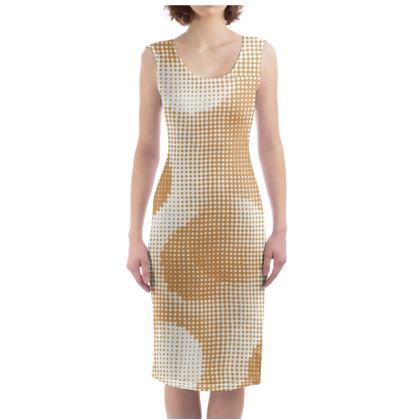 Bodycon Dress - Endleaves of Art. Taste. Beauty (1932) Orange Remix