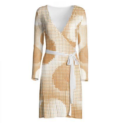Wrap Dress - Endleaves of Art. Taste. Beauty (1932) Orange Remix