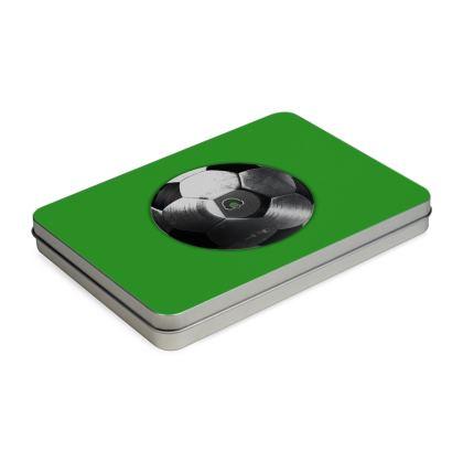 Pencil Case Box - Football Vinyl