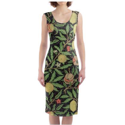 Bodycon Dress - Fruit Pattern (1862) Remaster