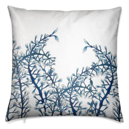 BLUE MOVING SEAWEED CUSHION