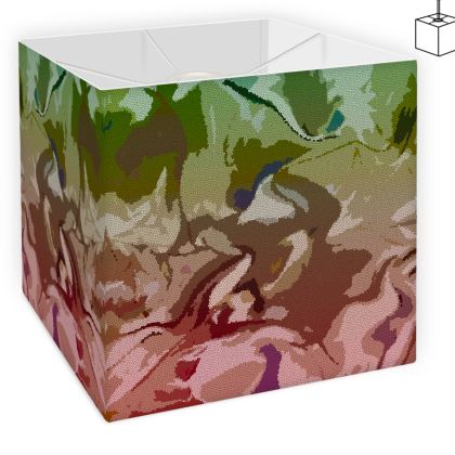 Square Lamp Shade - Honeycomb Marble Abstract 2
