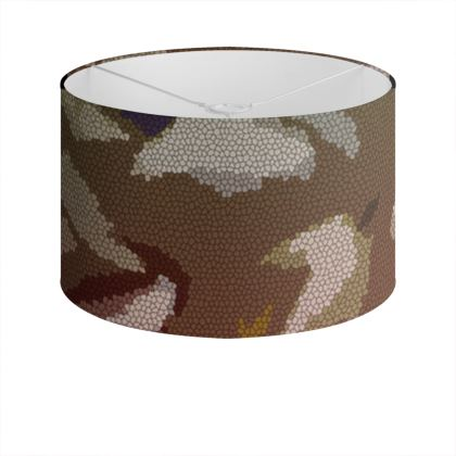 Drum Lamp Shade - Honeycomb Marble Abstract 2