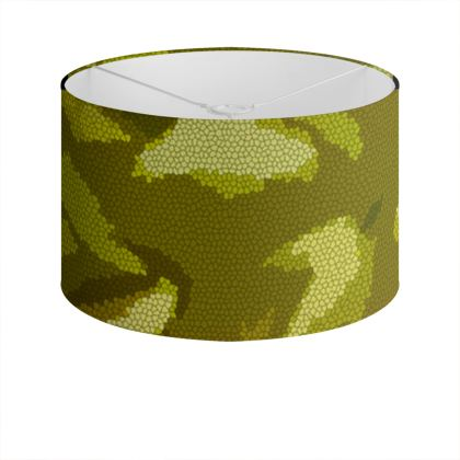 Drum Lamp Shade - Honeycomb Marble Abstract 3