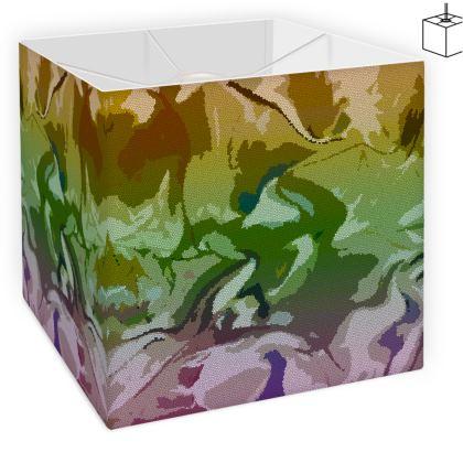 Square Lamp Shade - Honeycomb Marble Abstract 4