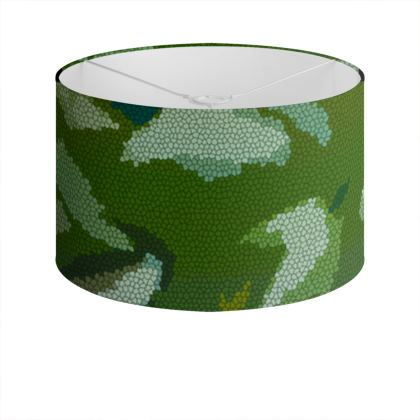 Drum Lamp Shade - Honeycomb Marble Abstract 4