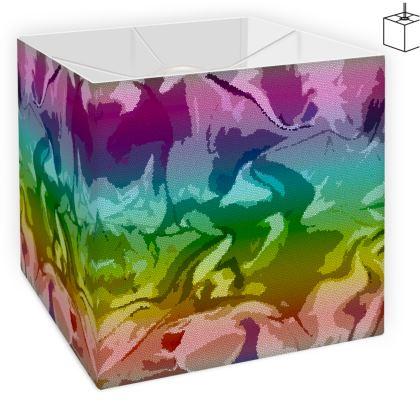 Square Lamp Shade - Honeycomb Marble Abstract 5