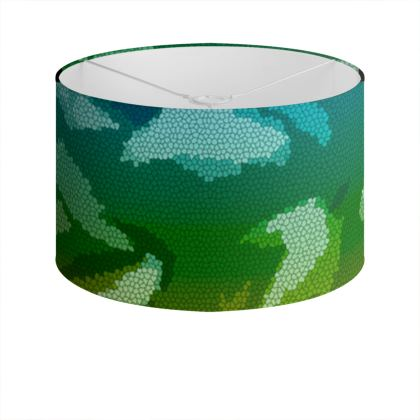 Drum Lamp Shade - Honeycomb Marble Abstract 5