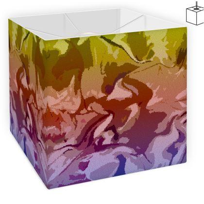 Square Lamp Shade - Honeycomb Marble Abstract 6
