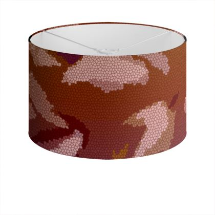 Drum Lamp Shade - Honeycomb Marble Abstract 6