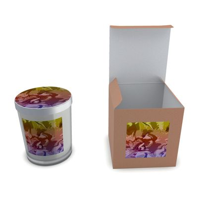 Set Candle In Glass - Honeycomb Marble Abstract 6