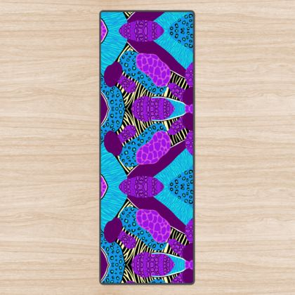 Yoga Mat in Abstract Animal Print