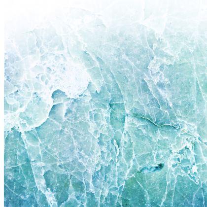 PASTEL BLUE SEA MARBLE - Luxury Cushions