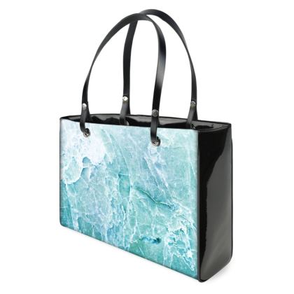 BLUE PASTEL SEA MARBLE - Small Handbags