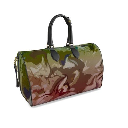 Large Duffle Bag - Honeycomb Marble Abstract 2