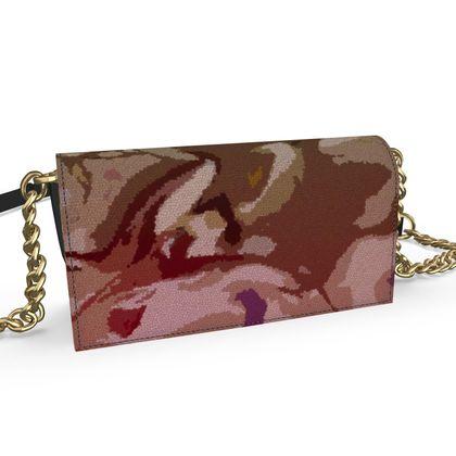 Oana Evening Bag - Honeycomb Marble Abstract 2