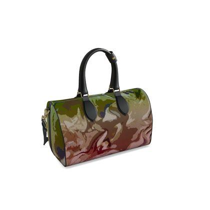 Small Duffle Bag - Honeycomb Marble Abstract 2