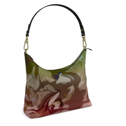 Square Hobo Bag - Honeycomb Marble Abstract 2