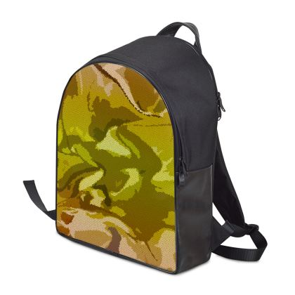 Backpack - Honeycomb Marble Abstract 3