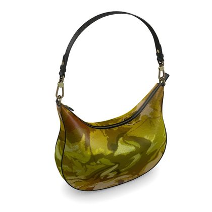 Curve Hobo Bag - Honeycomb Marble Abstract 3