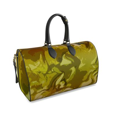 Large Duffle Bag - Honeycomb Marble Abstract 3
