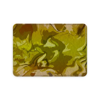 Leather Card Case - Honeycomb Marble Abstract 3