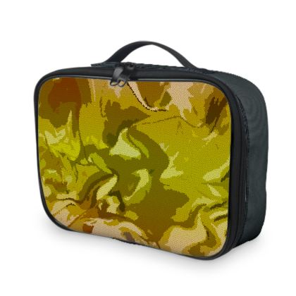 Lunch Bags - Honeycomb Marble Abstract 3