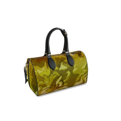 Small Duffle Bag - Honeycomb Marble Abstract 3