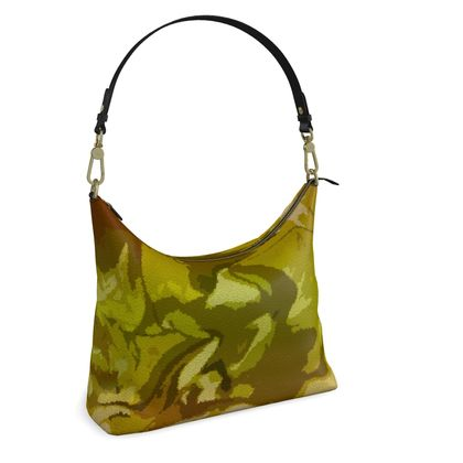 Square Hobo Bag - Honeycomb Marble Abstract 3