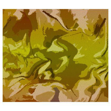 Zip Top Handbag - Honeycomb Marble Abstract 3