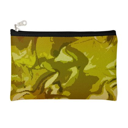 Zip Top Pouch - Honeycomb Marble Abstract 3