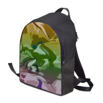 Backpack - Honeycomb Marble Abstract 4