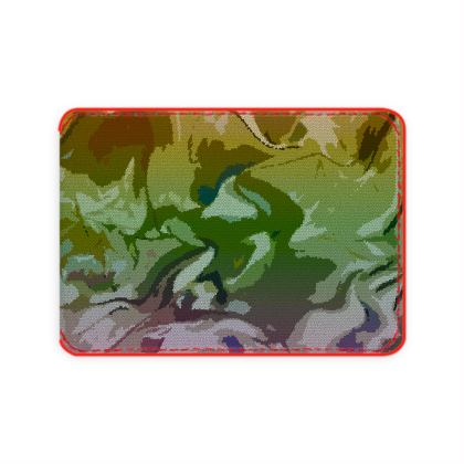 Card Holder - Honeycomb Marble Abstract 4